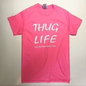 THUG LIFE T-Shirt Small Truly Humbled Under God